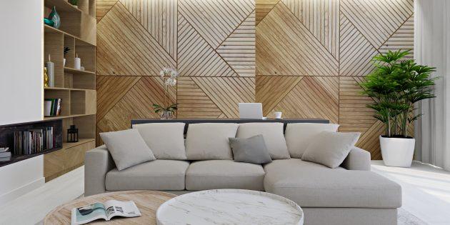 Интерьер маленькой квартиры: светлые нейтральные оттенки с добавлением акцентов