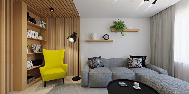 Интерьер маленькой квартиры: несколько источников света вместо одной люстры