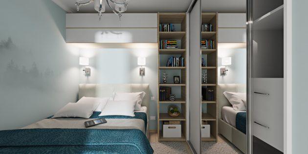 Интерьер маленькой квартиры: использование стен и потолка