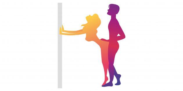 Позы для секса для полных: стоя
