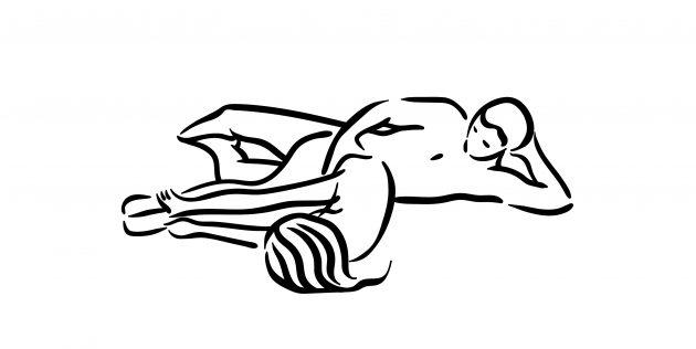 Секс-поза «Ложки догги-стайл»