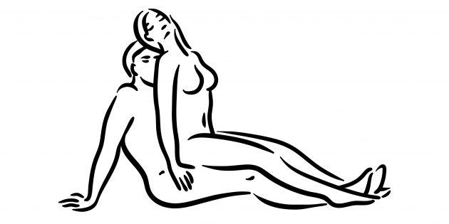 Поза в сексе «Ложки сидя»
