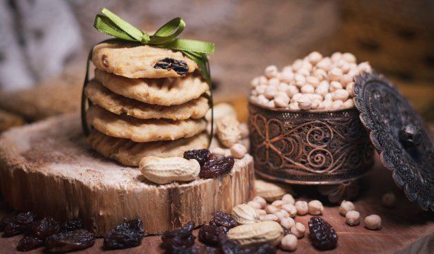 Печенье из нута с арахисом