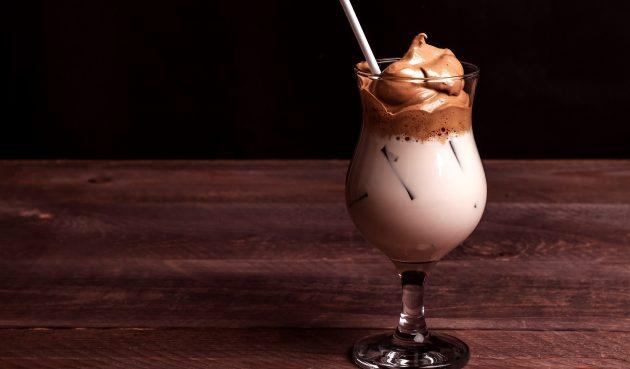 Дальгона с какао и шоколадным молоком