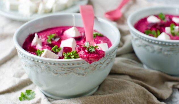 Свекольный крем-суп с фетой