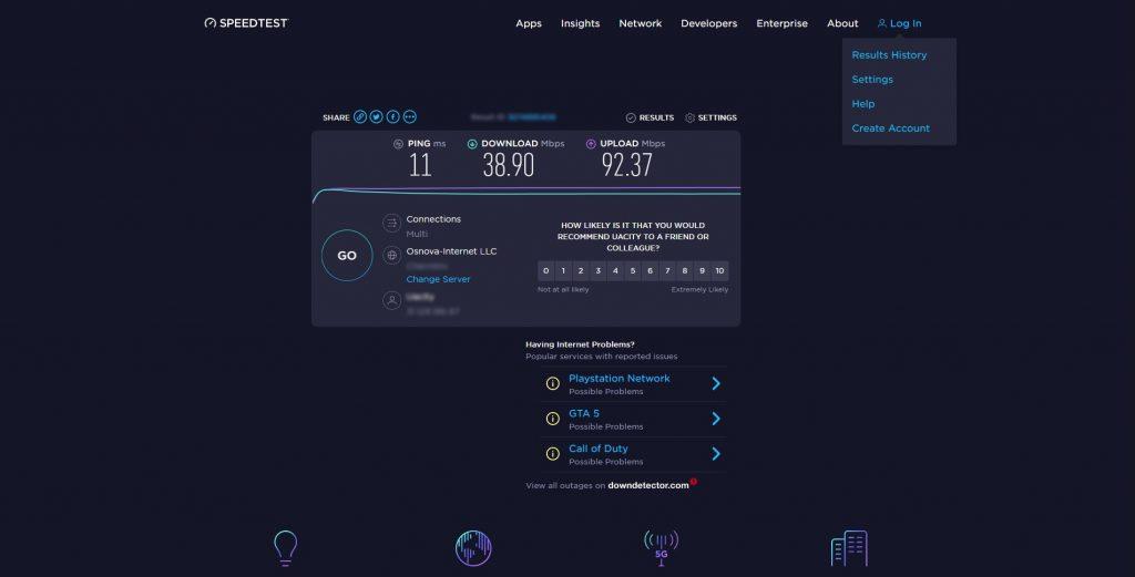 Как проверить скорость интернета: Speedtest