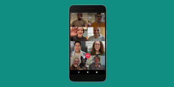 В видеозвонках WhatsApp теперь могут участвовать до 8 человек