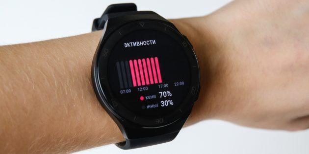 Huawei Watch GT 2e: вкладка «Активности»