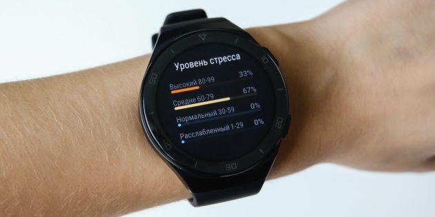 Huawei Watch GT 2e: уровень стресса на графике