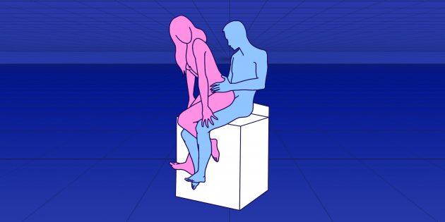 Секс на стуле: классическая поза