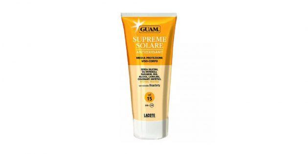 Солнцезащитный крем для лица и тела Guam Supreme Solare