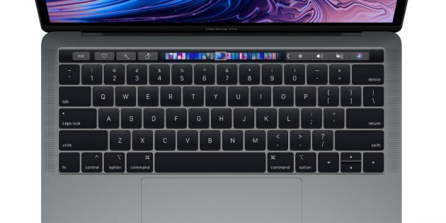 Тачбар в MacBook Pro 13″