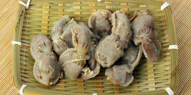 Сколько варить куриные желудки