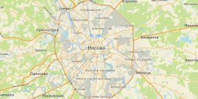 Мэрия Москвы опубликовала карту города с графиком прогулок