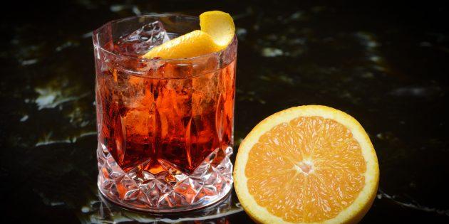 Алкогольные коктейли: «Гранатовый негрони»