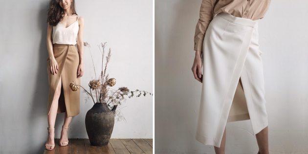 Летняя одежда: юбка с запахом