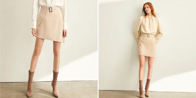 Летняя одежда: асимметричная юбка