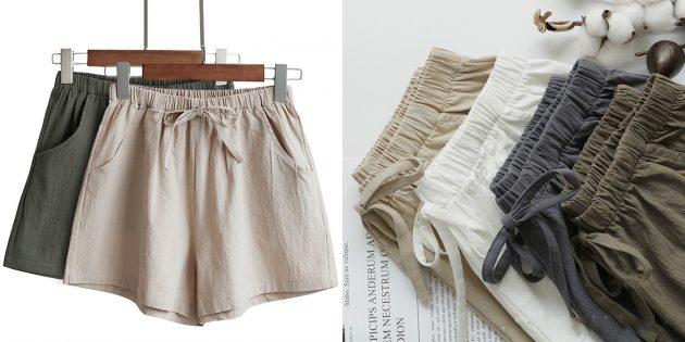Летняя одежда: хлопковые шорты