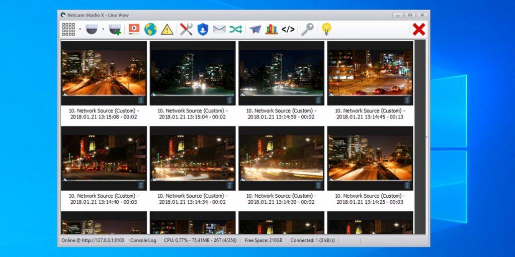 Программы для видеонаблюдения: Netcam Studio