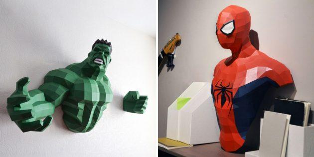 Объёмные фигуры супергероев