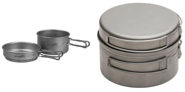 Что подарить мужу на день рождения: титановая посуда для туризма