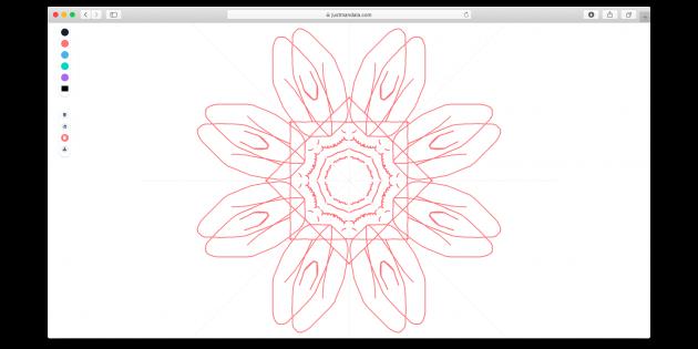 Just Mandala — бесплатный антистресс-редактор симметричных рисунков