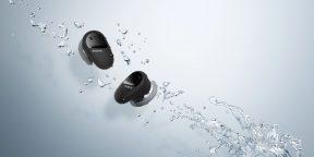 Sony представила наушники WF-SP800N с активным шумоподавлением