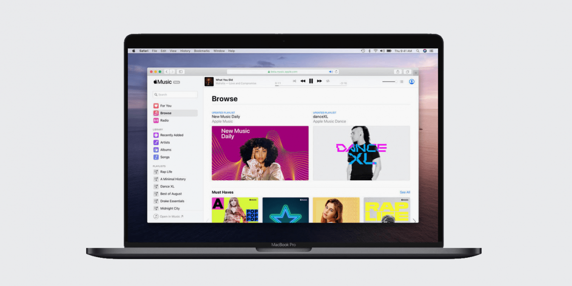 Apple запустила полноценную веб-версию Apple Music