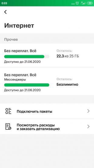 Трафик при использовании WhatsApp на тарифе «МегаФон» «Без переплат»