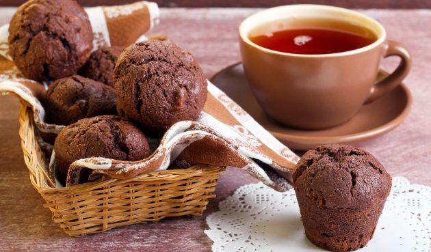 Диетические шоколадные кексы с бананом