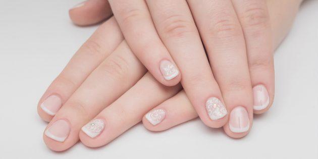 Овальная форма на коротких ногтях