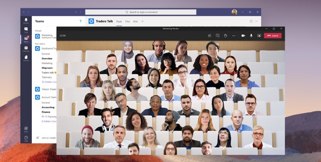 Новый Microsoft 365для малого и среднего бизнеса: режим «Вместе» (Together Mode) в Microsoft Teams