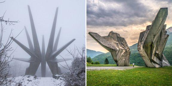 В Сети обсуждают заброшенные монументы Балканского полуострова. Дух захватывает!