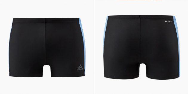 Пляжная одежда: плавки с контрастной вставкой