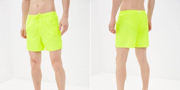 Пляжная одежда: неоновые шорты