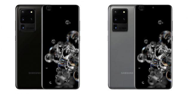 смартфоны с хорошей камерой: Samsung Galaxy S20Ultra