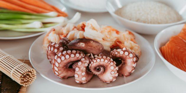Сколько варить осьминога: отварной осьминог