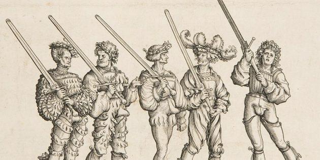бои на мечах