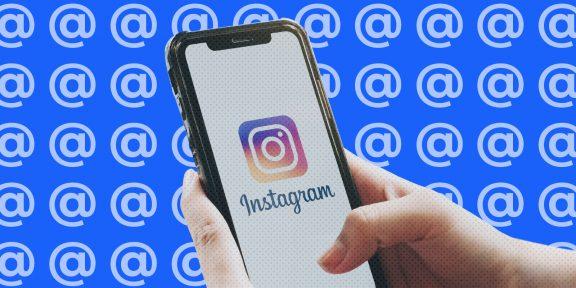 Как отметить человека в Instagram
