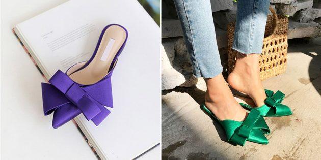 Какую летнюю обувь купить: мюли с бантами