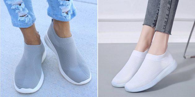 Женские тканевые кроссовки