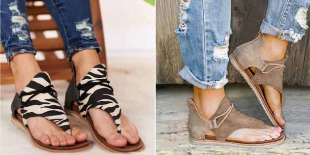 Какую летнюю обувь купить: сандалии с завязками