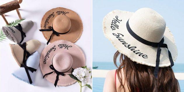 Плетёная шляпа
