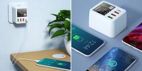 Штука дня: зарядное устройство с четырьмя портами и дисплеем