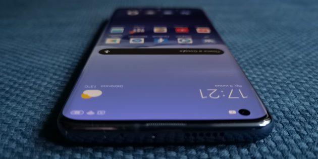 Xiaomi Mi 10: фронтальная камера в верхнем левом углу