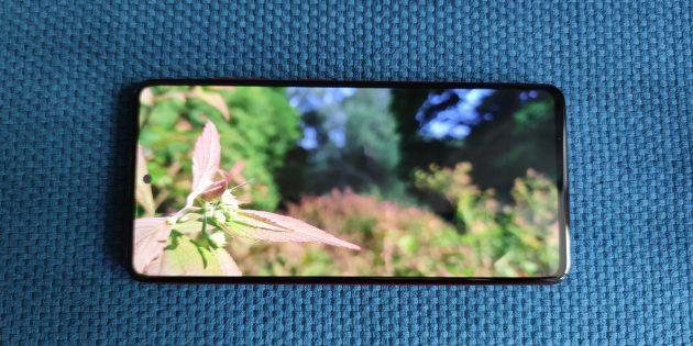 Samsung Galaxy A51: экран