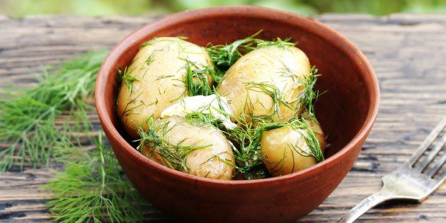 Сезонные товары: молодой картофель