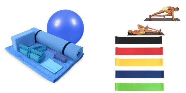 Подарок жене на день рождения: набор для домашних тренировок