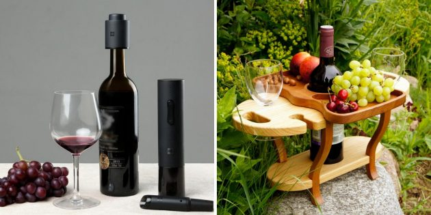 Подарок жене на день рождения: аксессуары для вина