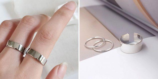 Стильные украшения: широкое кольцо